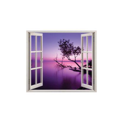 ferestre 3d stickere perete